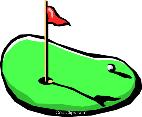 golf putting green Royalty Free Vector Clip Art illustration spor0237