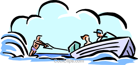 water-skiing Royalty Free Vector Clip Art illustration spor0241