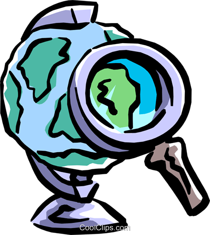 close examination Royalty Free Vector Clip Art illustration worl0688