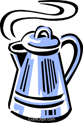 coffee pot Royalty Free Vector Clip Art illustration food0790