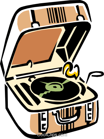 record player/phonograph Royalty Free Vector Clip Art illustration hous1078