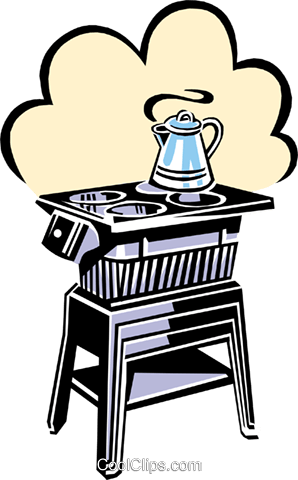 stove Royalty Free Vector Clip Art illustration hous1082