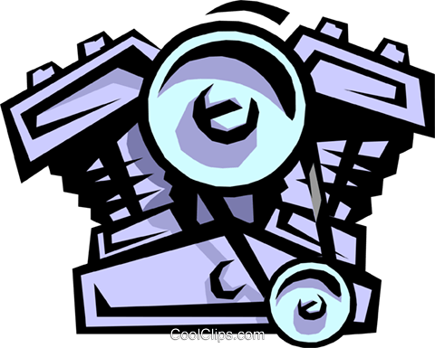 2 cycle engine Royalty Free Vector Clip Art illustration indu0765