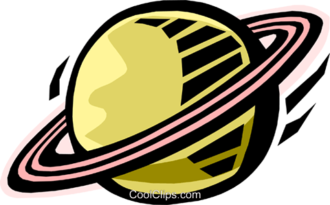 Saturn Royalty Free Vector Clip Art illustration natu0726