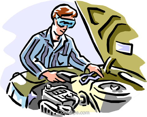 Automotive mechanic Royalty Free Vector Clip Art illustration peop1933
