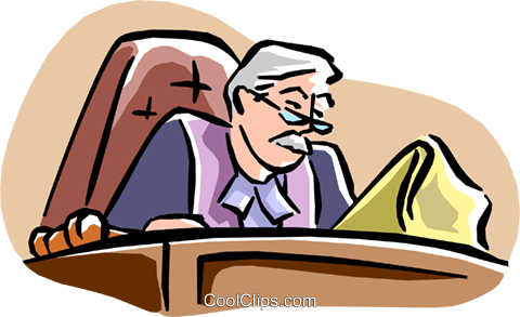 judge Royalty Free Vector Clip Art illustration peop1936