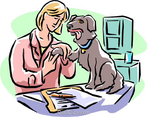 veterinary Royalty Free Vector Clip Art illustration peop1941