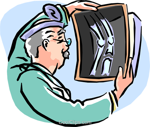 analyzing x-ray Royalty Free Vector Clip Art illustration peop1942