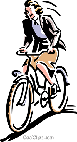 Old-fashioned bike riding Royalty Free Vector Clip Art illustration peop1953