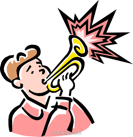 trumpet player Royalty Free Vector Clip Art illustration peop1985