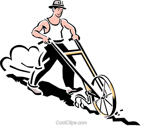 plowing Royalty Free Vector Clip Art illustration peop2048