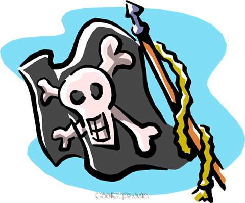 pirate flag Royalty Free Vector Clip Art illustration cart1889