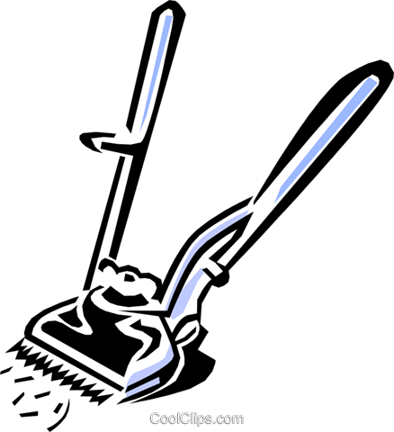 barber's equipment Royalty Free Vector Clip Art illustration hous1092