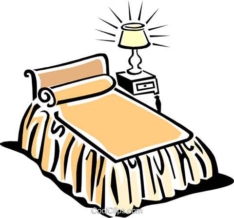 bed Royalty Free Vector Clip Art illustration hous1103