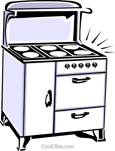 stove Royalty Free Vector Clip Art illustration hous1104