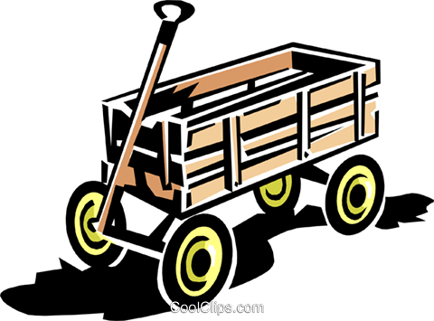 wagon Royalty Free Vector Clip Art illustration hous1111