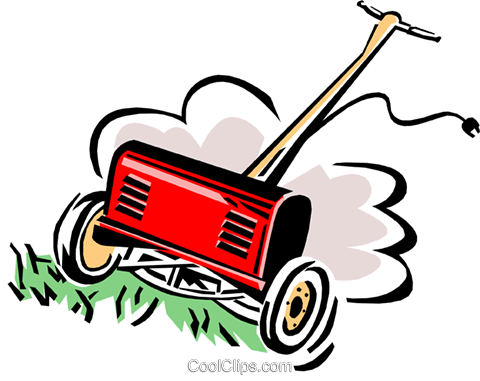 lawn mower Royalty Free Vector Clip Art illustration hous1112