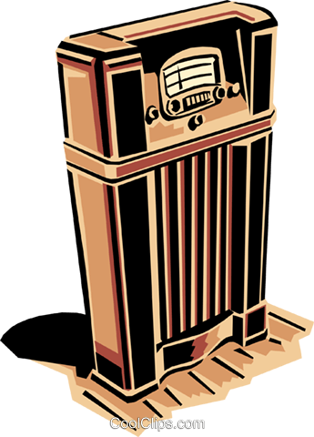 radio Royalty Free Vector Clip Art illustration hous1122