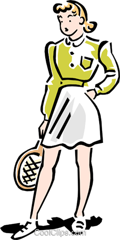 tennis player Royalty Free Vector Clip Art illustration peop2084