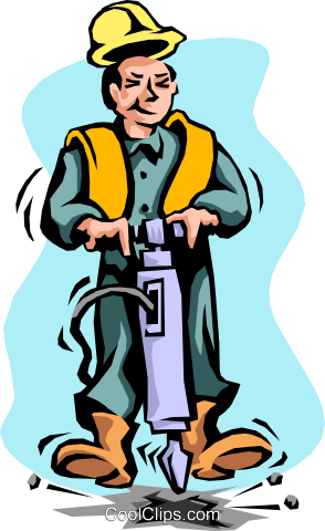 road construction worker Royalty Free Vector Clip Art illustration peop2107