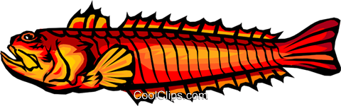 deep sea fish Royalty Free Vector Clip Art illustration anim1525