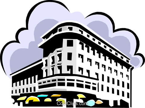 office building Royalty Free Vector Clip Art illustration arch0408