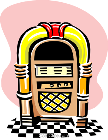 jukebox Royalty Free Vector Clip Art illustration arts0466