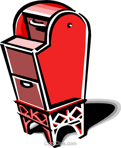 mailbox Royalty Free Vector Clip Art illustration busi1318
