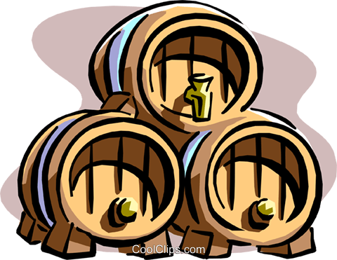 ale kegs Royalty Free Vector Clip Art illustration cart1902