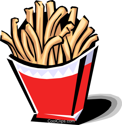 French fries Royalty Free Vector Clip Art illustration food0796