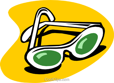 sunglasses Royalty Free Vector Clip Art illustration hous1139