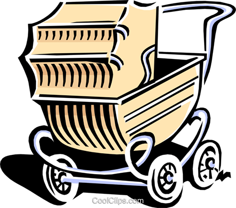 baby carriage Royalty Free Vector Clip Art illustration hous1141