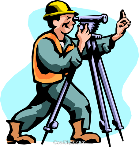 Surveyor Royalty Free Vector Clip Art illustration peop2178