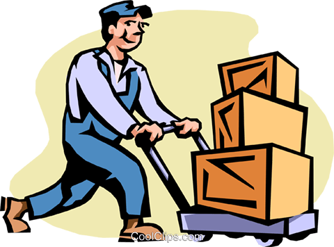 shipping and receiving Royalty Free Vector Clip Art illustration peop2183