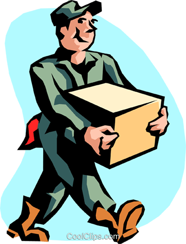 shipping and receiving Royalty Free Vector Clip Art illustration peop2184
