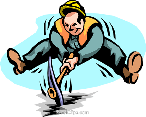 breaking ground Royalty Free Vector Clip Art illustration peop2185