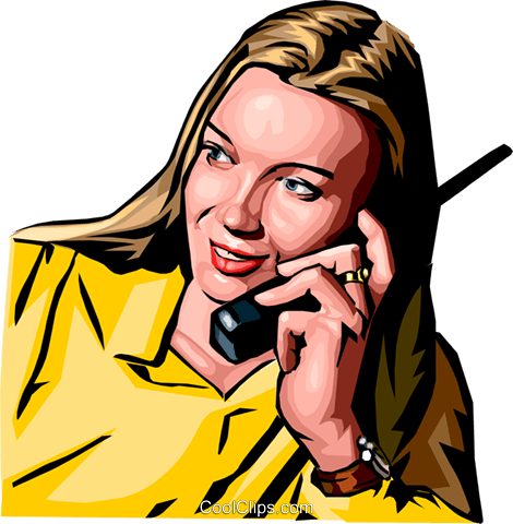 woman on phone Royalty Free Vector Clip Art illustration peop2186