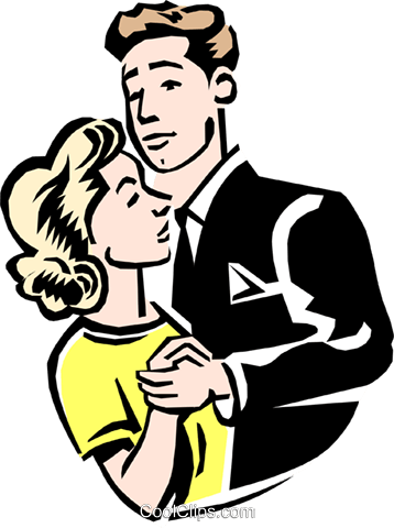 Couple dancing Royalty Free Vector Clip Art illustration peop2190