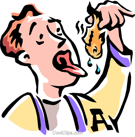 man swallowing goldfish Royalty Free Vector Clip Art illustration peop2220