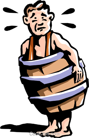 man in barrel Royalty Free Vector Clip Art illustration peop2222