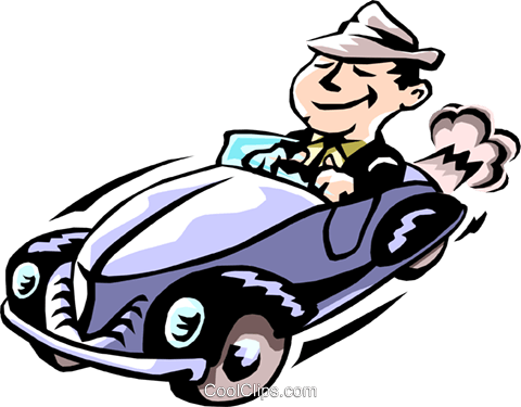 man driving car Royalty Free Vector Clip Art illustration peop2224