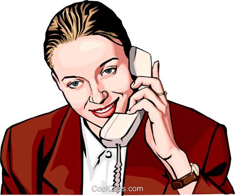 woman talking on phone Royalty Free Vector Clip Art illustration peop2231