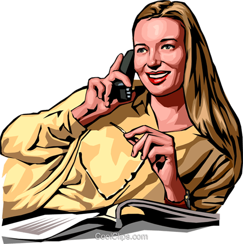 woman talking on phone Royalty Free Vector Clip Art illustration peop2232