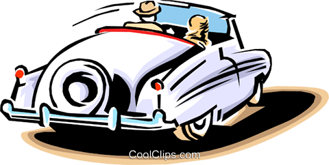 late model automobile Royalty Free Vector Clip Art illustration tran0768