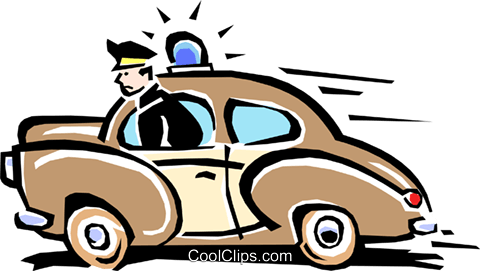 police car Royalty Free Vector Clip Art illustration tran0770