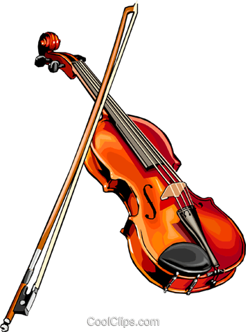violin Royalty Free Vector Clip Art illustration arts0471