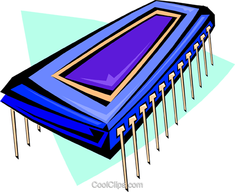 computer chip Royalty Free Vector Clip Art illustration busi1330