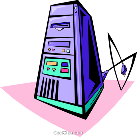computer tower Royalty Free Vector Clip Art illustration busi1331