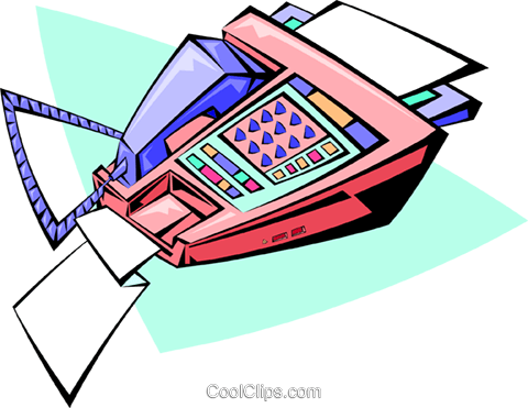 modern fax machine Royalty Free Vector Clip Art illustration busi1333