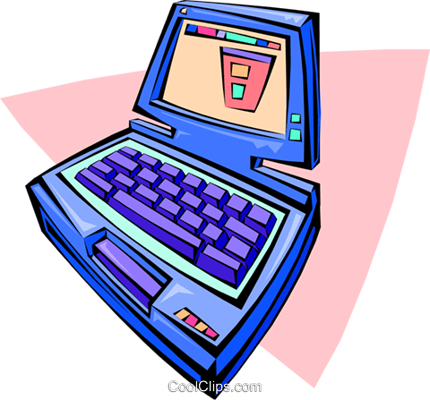 notebook computer Royalty Free Vector Clip Art illustration busi1337